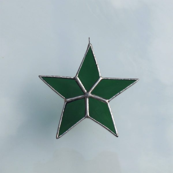 5er Stern grün